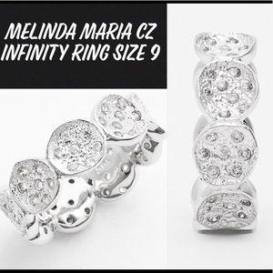 MELINDA MARIA CZ INFINITY RING SIZE 9